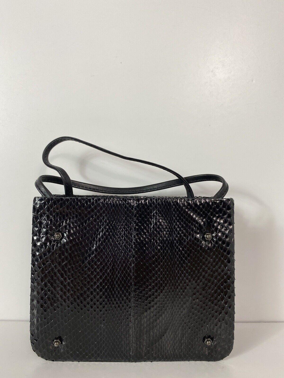 RARE VTG ALEXANDER McQUEEN 90s BLACK SNAKE BAG - image 1