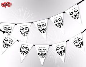 Bonfire-noche-Guy-Fawkes-mascara-blanco-5th-Noviembre-Guirnalda-Pancarta-por