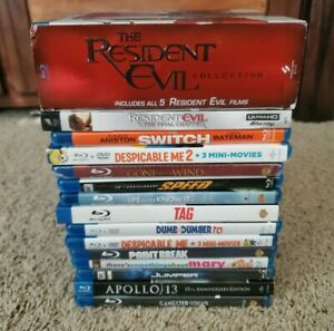 Lote-de-19-4K-Bluray-dvd-Resident-Evil-Coleccion-Apollo-13-leer-descripcion