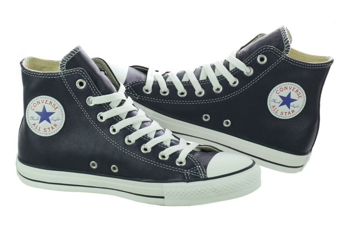 Chuck Taylor CT AS All hi Athletic Navy Leather All AS Star Converse 135252C New shoes 06416d