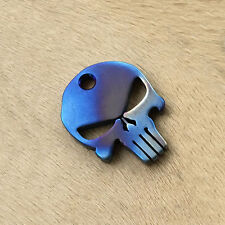 Tiremet titanium alloy Keychain EDC Punisher Skull Pendant Fashion Gift MT50F