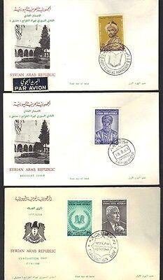 Beliebte Marke Syrien 1963 Drei Fdc's Al Hamadani Abu Alala Al Muary & Fares El Khouri Warmes Lob Von Kunden Zu Gewinnen Mittlerer Osten