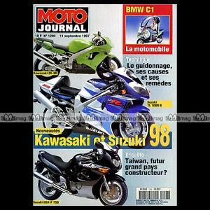 Analytique Moto Journal N°1292 Suzuki Gsxf Gsxr 750 Tl 1000 S Vl 1500 Bmw C1 Peterhansel 97