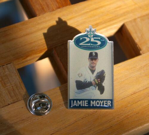 25th Anniversary Jamie Moyer Mariners Baseball Metal /& Enamel Lapel Pin Pinback