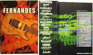 Fernandes chitarre & EQUIPMENT CATALOGO di 2003 catalogo dal Giappone prospetto