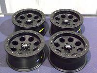14 Yamaha Grizzly 660 Beadlock Black Atv Wheels Set 4 - Lifetime Warranty