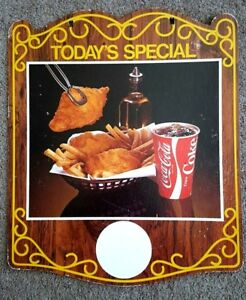 COKE-COCA-COLA-SIGN-VINTAGE-TODAY-039-S-SPECIAL-STAND-UP-DISPLAY-2-FT-DOUBLE-SIDED
