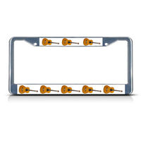 Guitar Musical Instrument Metal License Plate Frame Tag Border Two Holes