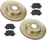 Toyota Corolla 97-02 L4 1.8l Front Brake Kit W/ Semi Metallic Pads & Rotors