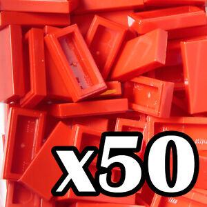smooth flat tiled 2x2 TILES 2 x 2 Brown Reddish tile x 25 NEW LEGO