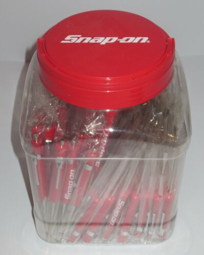 SNAP ON RED POCKET SCREWDRIVERS,FLAT TIP WITH MAGNETIC END NEW FIVE NEW