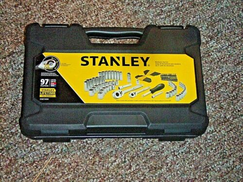 STANLEY TOOL BOX PLASTIC FROM 97 PIECE SOCKET KIT   NO TOOLS