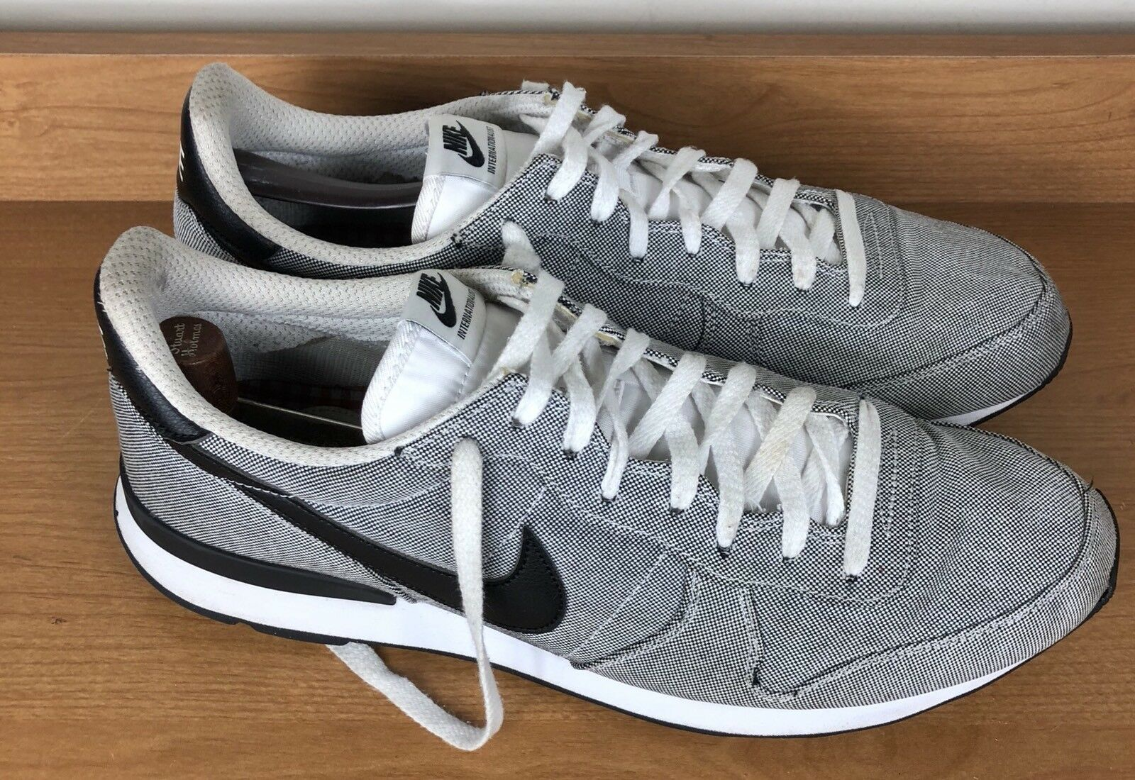 Nike Internationalist Gray Fabric Athlete Running Shoes Men's Comfortable Comfortable and good-looking