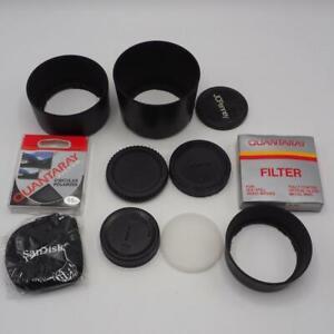 Lot-of-Camera-Filters-Lens-Body-Caps-amp-Hood