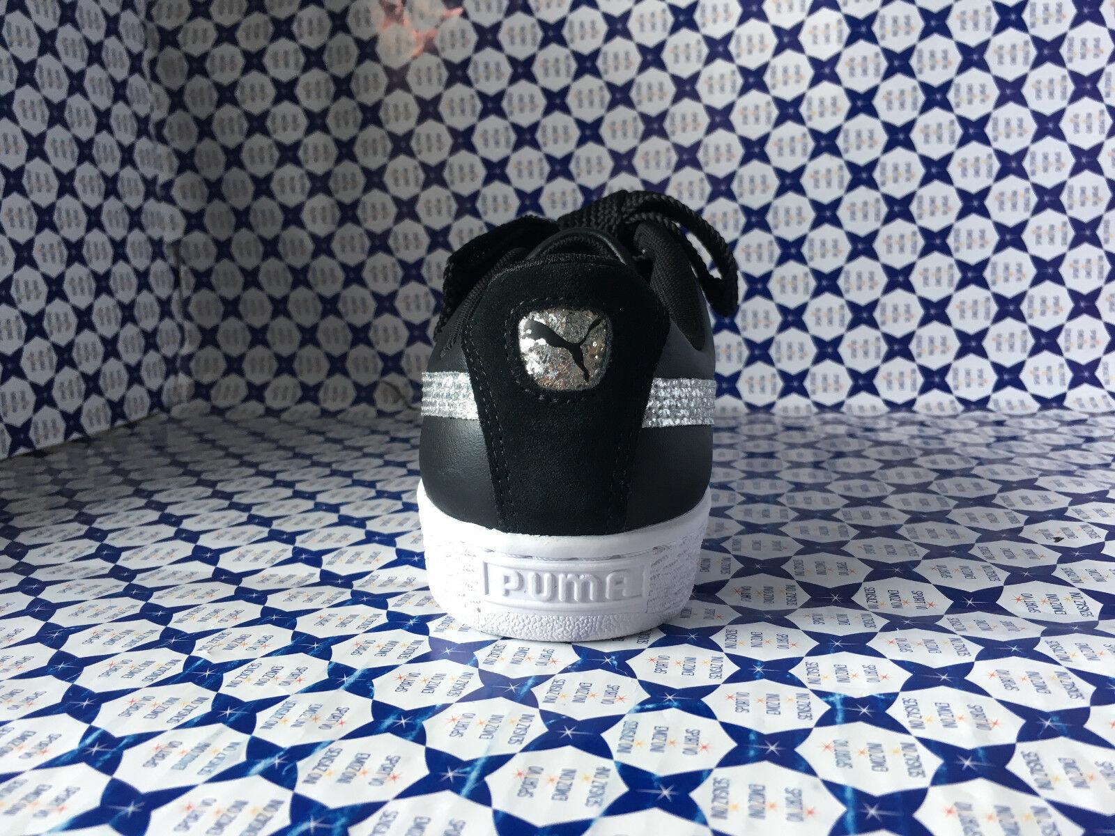 shoes Puma women SCONTATE   Basket Heart Heart Heart Glitter - black silver- 364078 63ef6d