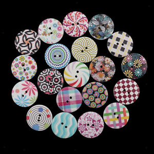 50pcs Mixed Bird Shape Wooden Decorative Button for Clothing Decoration 20mm