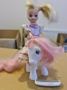 My-Little-Pony-Baby-Sundance-and-Megan-G1-Vintage-Collectibles-1983-inc-comb