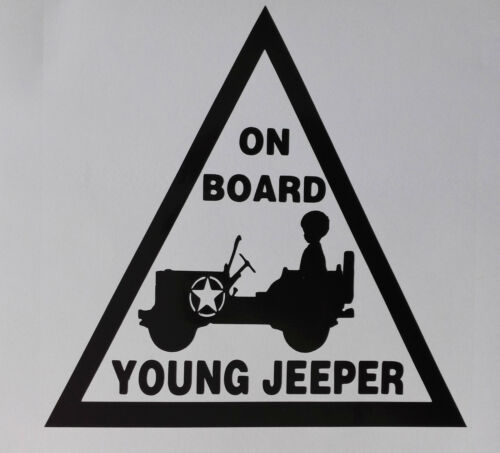 """/""""joven Jeeper On Board/"""" Pegatina de Coche 150mm X 150mm Jeep"""