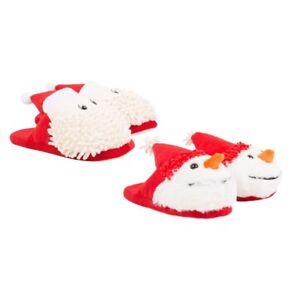 Novedad Christmas Xmas Snowman Santa Zapatillas Hombre Mujer Niños Unisex Antideslizante