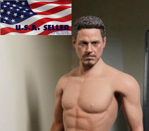 no neck 1//6 Tony Stark Iron Man Head Sculpt For Hot Toys Phicen Figure ❶USA❶