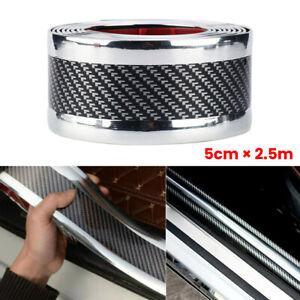 5-250CM-Car-Sticker-Carbon-Fiber-Rubber-Edge-Guard-Strip-Door-Sill-Protector-DIY