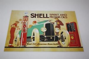 Conchiglia-Targa-di-Latta-Spirit-amp-Motore-Oils-Lim-Edizione-Motivo-1924-20x30