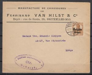 B2557-BELGIUM-GERMAN-OCC-MI-15-ON-COVER