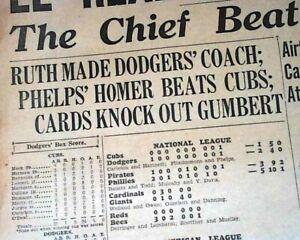 Great Babe Ruth Signs W Brooklyn Dodgers As Mlb Baseball