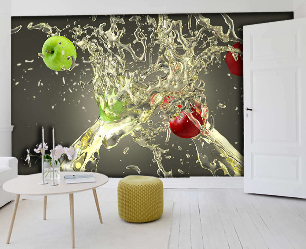 Grün Apple ,rot Apple 3D Full Wall Mural Photo Wallpaper Print Home Kids Decor