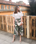ZARA SS18 BEIGE STRIPED AND FLORAL PRINT CULOTTES SIZE XS/_M REF.2903//876