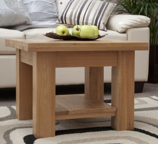Kingston Solid Oak Living Room Lounge Furniture Small Square Coffee