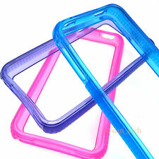 Lot of 6, TPU Bumper Frame Cases Gel Flexible Covers for Apple iPhone 4S 4