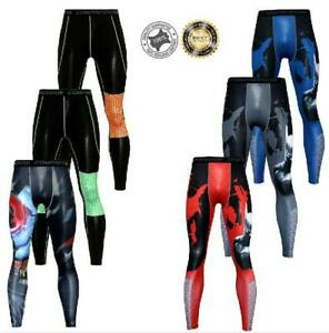 Mens-Thermal-Compression-Tight-Base-Layer-Pants-Long-Leggings-Gym-Sport-Trousers