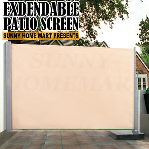 New Heavy Duty Patio Screen Awning Retractable Fence Expandable Up