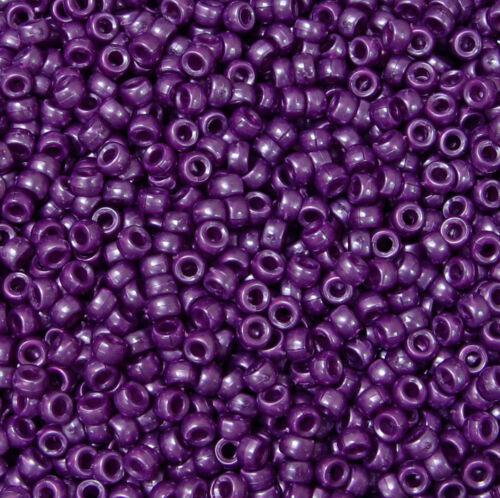 Violet Pearl Mini Pony Beads made in USA 1,000pc crafts school VBS kandi jewelry