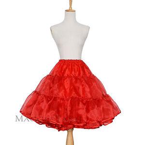 96a454d6d1cb9 Maggie Tang 50s 60s Vintage Rockabilly Petticoat Sz 36-44 8 Colors ...