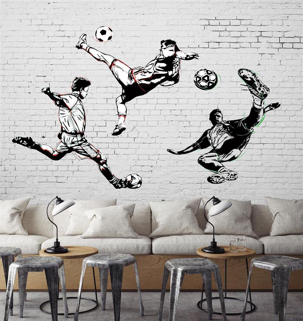 3D Football Man  7062 Wallpaper Mural Wall Print Wall Wallpaper Murals US Lemon