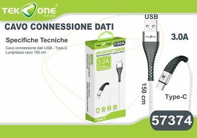 Avere Una Mente Inquisitrice Cavo Dati Usb Tekone C50a Connettore Type-c Tipo C 3.0a Per Smartphone Hsb
