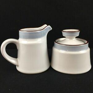 VTG Lidded Sugar Bowl and Creamer Noritake Eastwind 8349 Japan