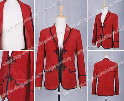 Who Is Doctor The 3rd Doctor Red Jacket Coat Cosplay Costume Halloween Good Sell