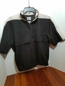 Callaway-Golf-Mens-Medium-Pull-Over-Short-Sleeve-Wind-Breaker-Jacket-Zip-Collar