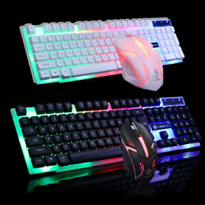 c6678a1affd Mechanical Wired Gaming Keyboard and Mouse Set LED Backlight Mouse ...