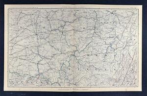 Map Of Ohio West Virginia And Pennsylvania.Civil War Military Map West Virginia Ohio Pennsylvania