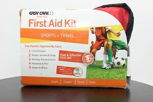 Easy Care First Aid Kit, Sports + Travel, 5 Pocket Organizer, Expires 09/2022