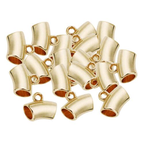 50pcs Loose Spacer Beads Charm Large Hole Beads Tubular Pendant for Bracelet