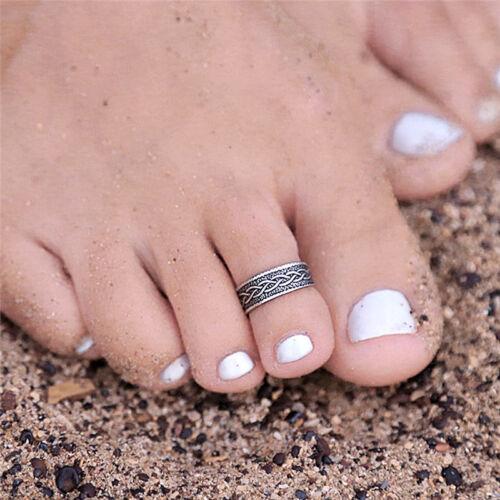 Vintage Silver Finger Foot Toe Ring Adjustable Boho Women Retro Chic Jewelry G$