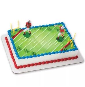 Image Is Loading NEW Football DecoSet Cake Decoration Same