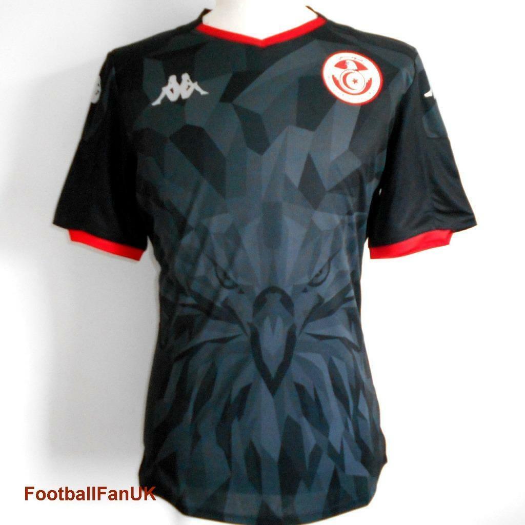 Tunisia KAPPA 3rd footbtutti shirt 20192020 Nuovi Uomo Nero TERZO Soccer Jersey