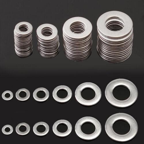 EG/_ AM/_ EG/_ 105Pcs 6 Sizes Durable Stainless Steel Flat Washer Gasket Assortment