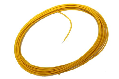 YELLOW Vintage Cloth Push-Back Wire 25 feet